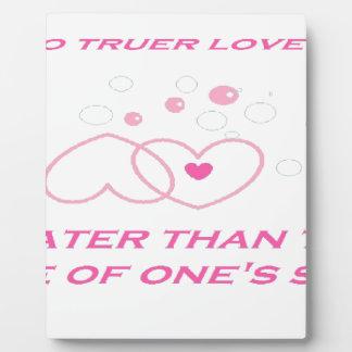 truer love statement plaque