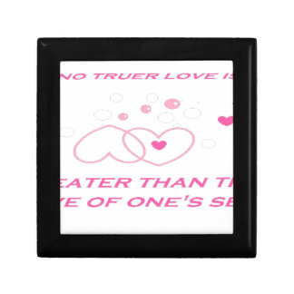 truer love statement small square gift box