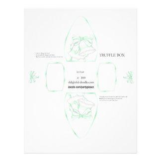 Truffle Box Party Favor box Birthday or weddings Flyer Design