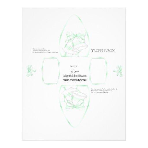 Truffle Box Party Favor box. Birthday or weddings Flyer Design
