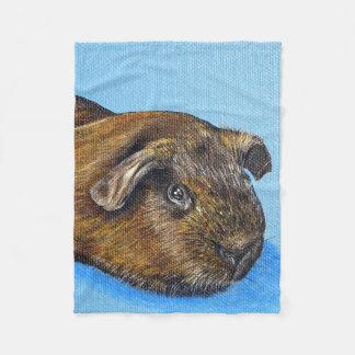 Truffle the Guinea Pig Fleece Blanket