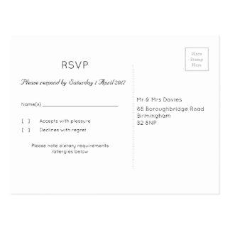 Truffle 'Tree' Wedding RSVP Postcard