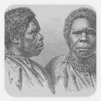 Truganina, the last Tasmanian woman Square Sticker
