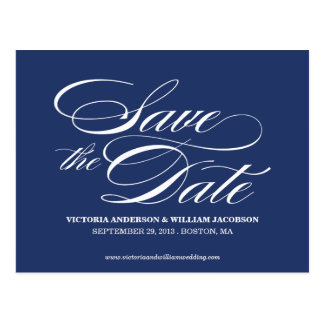 TRULY ELEGANT SAVE THE DATE ANNOUNCEMENT POST CARD