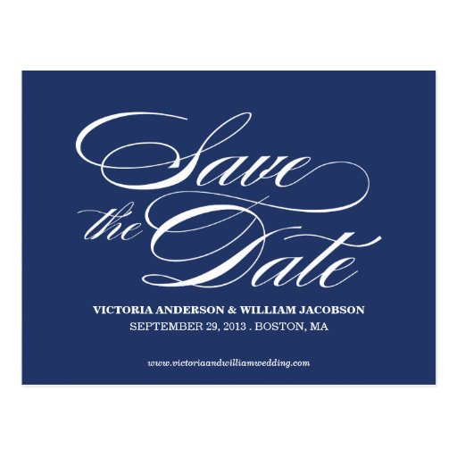 TRULY ELEGANT | SAVE THE DATE ANNOUNCEMENT POST CARD