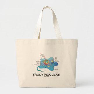 Truly Nuclear (Animal Cell Eukaryote Eukaryotic) Jumbo Tote Bag