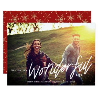 Truly Wonderful | Photo Filtered Holiday Card
