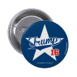 Trump 16 Baseball Script Star (Donald Trump 2016) 6 Cm Round Badge