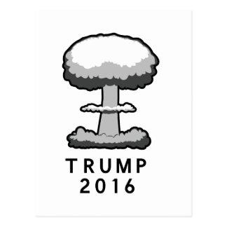 Trump 2016 Nuclear Mushroom Cloud Postcard