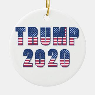 Trump 2020 ceramic ornament