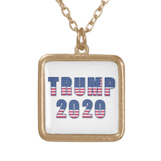 Trump 2020 gold plated necklace
