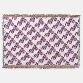 Trump-45-Blue Throw Blanket