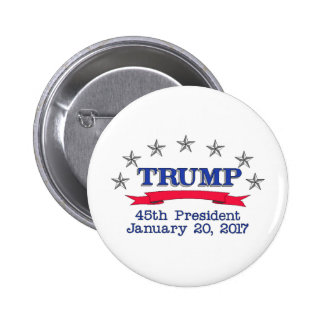 Trump 45th President 6 Cm Round Badge