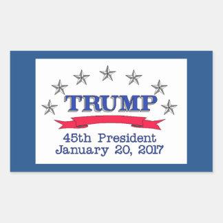 Trump 45th President Rectangular Sticker