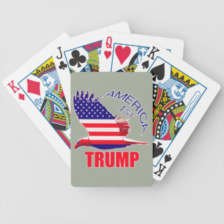 Trump America First Eagle Bicycle Playing Cards