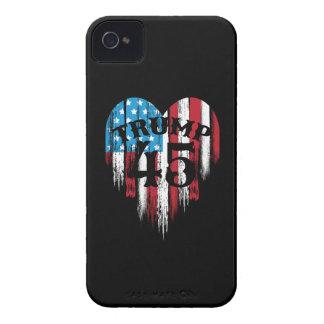 Trump American Flag Heart iPhone 4 Covers