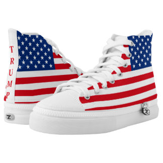 Trump American Flag Patriotic Printed Shoes