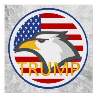 TRUMP AND EAGLE POSTER