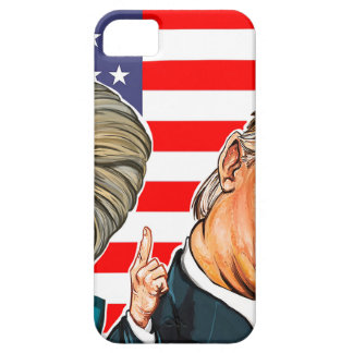Trump and Hillary Caricature iPhone 5 Covers