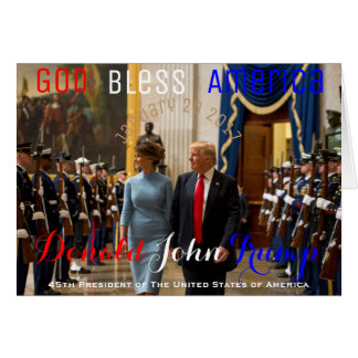 Trump and Melania Joint Armed Forces Honor Guard Card