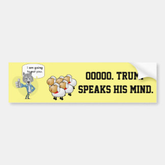 Trump as the wolf, the American people as sheep. Bumper Sticker