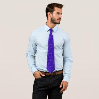 Trump Blue Ornate Ribbed Jacquard Star Pattern Tie