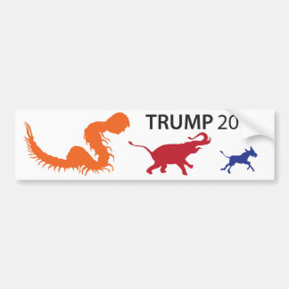 Trump Centipede Nimble Bumper Sticker