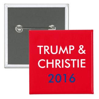 Trump & Christie 2016 Square Button