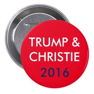 Trump & Christie 3 Inch Round Button