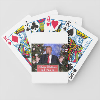Trump Christmas Bicycle Playing Cards