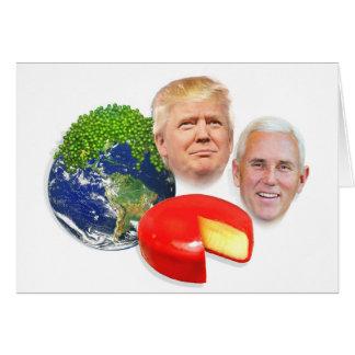 Trump Christmas, Peas on Earth Gouda Wheel Card