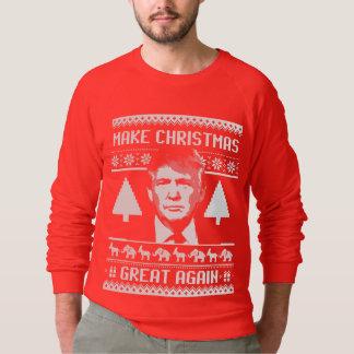 Trump Christmas Sweater - Make Christmas Great Aga
