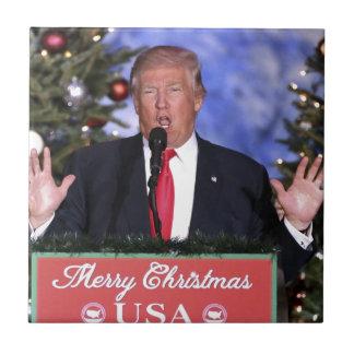 Trump Christmas Tile