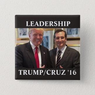 Trump/Cruz 2016 15 Cm Square Badge