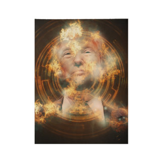 "Trump Custom Wood Poster, 19"" x 14.5"" Wood Poster"