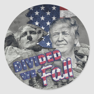 Trump Divided We Fall Sticker