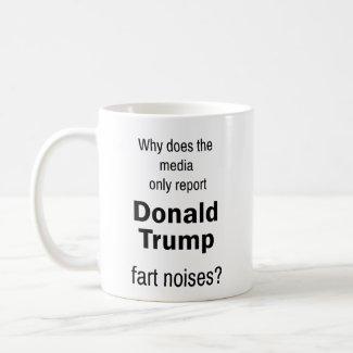 trump fart noises mug