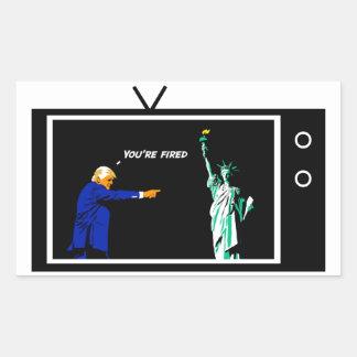 Trump Fires Lady Liberty Sticker