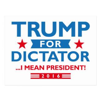 Trump For Dictator Postcard