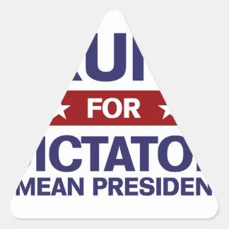 Trump for Dictator Triangle Sticker