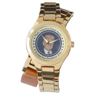 Trump for Pres large Wrist Watches