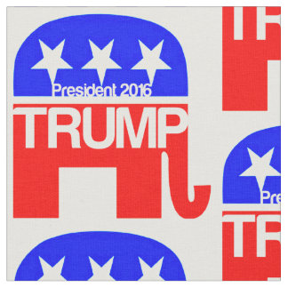 Trump For President 2016 Elephant Fabric