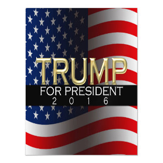 Trump for President 2016 Gold Political Campaign Magnetic Invitations