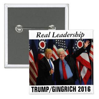 Trump/Gingrich 2016 15 Cm Square Badge