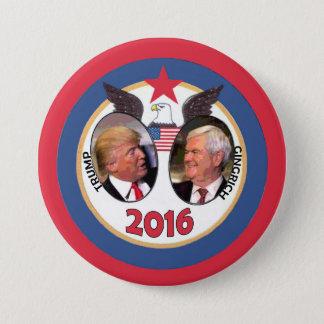 Trump / Gingrich 2016 7.5 Cm Round Badge