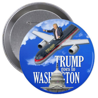 Trump goes to Washington 10 Cm Round Badge
