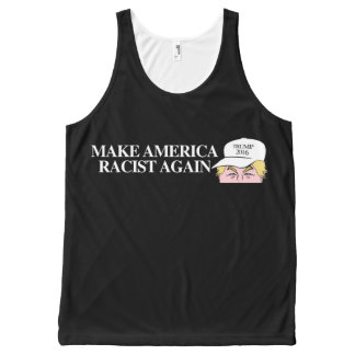 Trump Hat - Make America Racist Again - - .png All-Over Print Tank Top