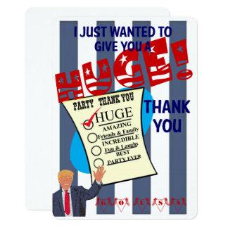 Trump HUGE Thank You Card