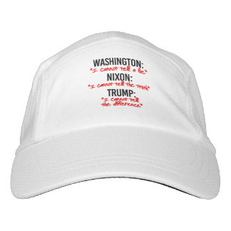 TRUMP - I cannot tell the difference in truth and  Hat