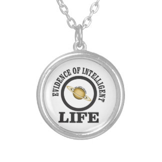trump intelligence silver plated necklace